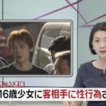 福井康行の顔画像がこちら!なんと『61歳の差!』16歳未成年と知りながら77歳の男性客に性行為をさせ逮捕!